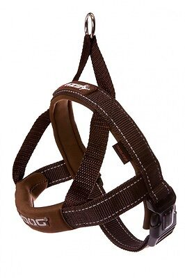 EzyDog Chocolate Quick Fit Dog Harness - Choice of Sizes