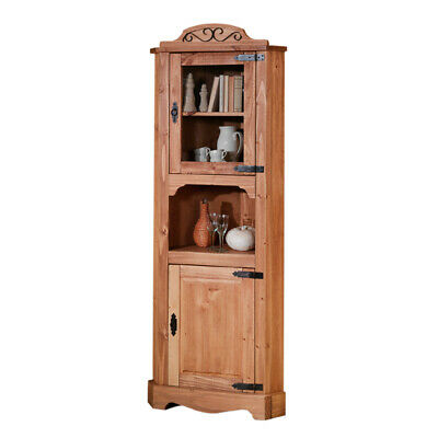 landhaus vitrine massiv eckvitrine eckschrank vitrinenschrank esszimmer schrank eur 489 00. Black Bedroom Furniture Sets. Home Design Ideas