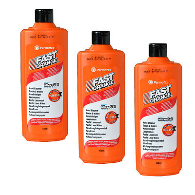 3 x Fast Orange Handwaschpaste a' 440ml Permatex Handreiniger Schmutz Paste