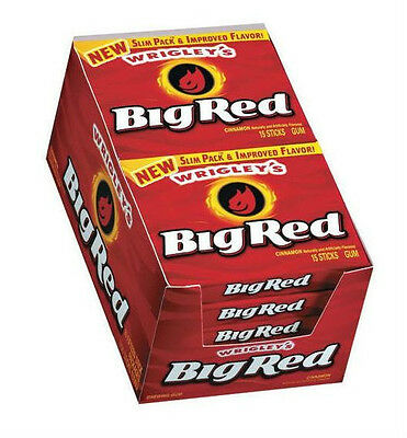 Wrigley's Big Red Cinnamon Gum - 10/15ct tray, Sugar Gum