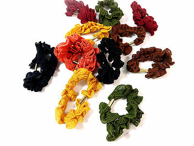 Wholesale Job Lot Ladies Wool Hair Scrunchies Assorted Multi Color (Mz9)