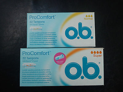 O.b. Pro Comfort Tampons- 32 Pcs Choose Your Size