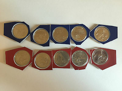 2014 P&D National Park Quarter Set of All 10 Uncirculated Mint Set Coins