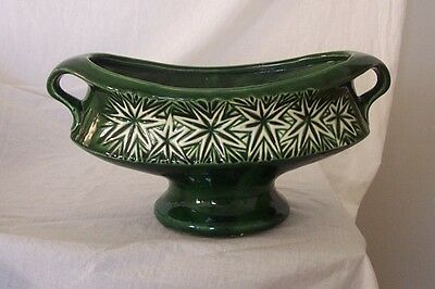 Rare Mt. Clemens Pottery Co. McCoy Green Starburst Footed Planter #16 1968