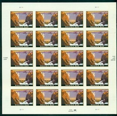 US #4269 $16.50 Hoover Dam, Complete sheet of 20, self adhesive