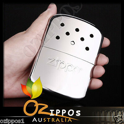Zippo Hand Warmer Chrome Finish Deluxe with Filling Cup & Pouch, Outdoor 40306