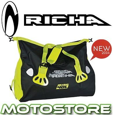 Richa H20 Shoulder Roll Dry Bag Fluo Yellow Motorcycle Wp Waterproof 40L Tailbag
