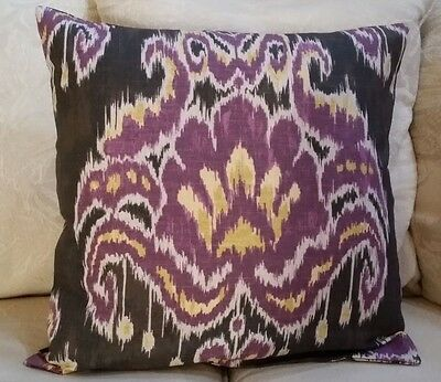 """Marlena Ikat  Gray//Black Graphite//Pillow Cover $25.00 ea 20/""""x 20/""""10 Available"""