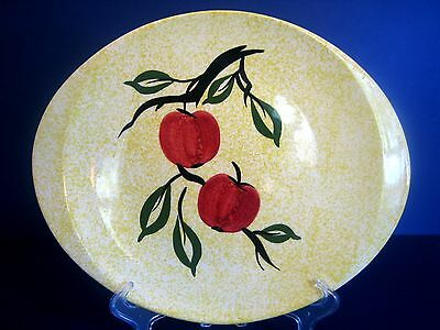 Blue Ridge Southern Potteries Platter Handles Yellow Spatterware Apple Jack