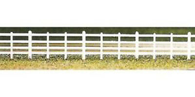 Ratio 424 -Lineside 4 Bar White Plastic Fencing Makes 860mm '00' Gauge -1st Post