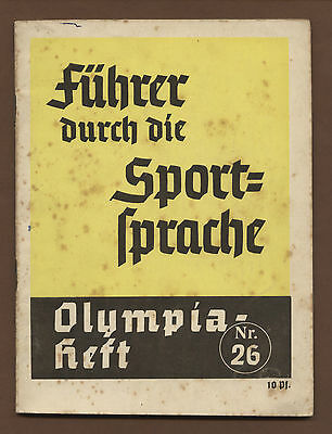 Orig.Guide to the Sport Language    XI.Olympic Games BERLIN 1936  !!  VERY RARE