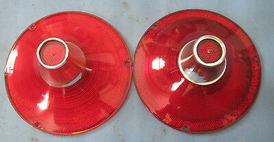 New pair tail light lens 1961 Ford without back up