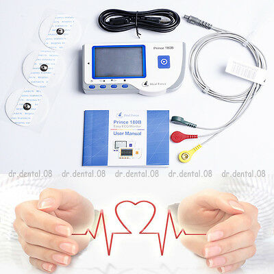 Heal Force Portable Handheld Color ECG EKG Heart Monitor + Lead Cable&Electrode