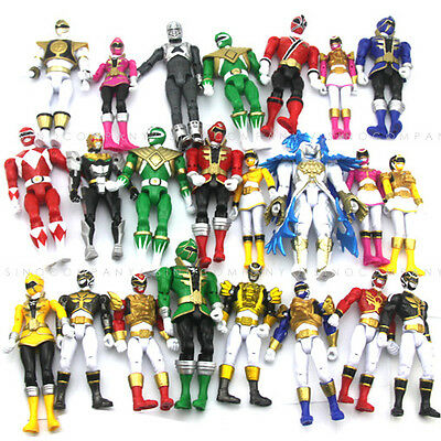 5pcs Boys Toy Bandai Mighty Morphin Power Rangers Red blue black Figure Gift W67