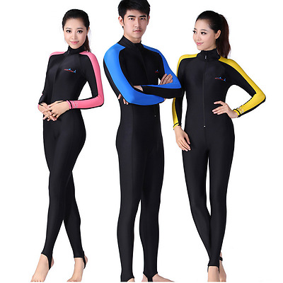 Women Men Rash Guard Scuba Snorkeling Sports Surfing Suit Diving Skin Swimwear