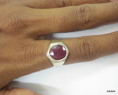 sterling silver ring ruby gemstone ring handmade jewelry from rajasthan