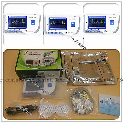 On sale!Handheld Color ECG EKG Heart Monitor Lead Cable Electrode Palm Chest