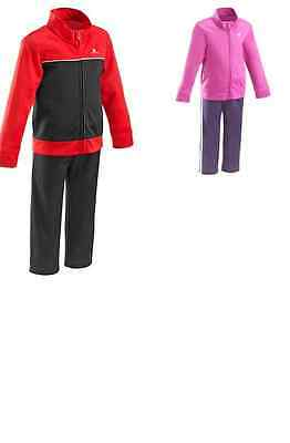 Domyos  Baby Toddler Girls Tracksuit Top And Bottom  Pink New