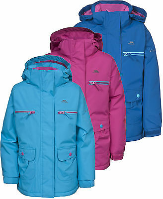 Trespass Gracy Girls Fleece Lined Jacket Insulated Waterproof School Coat