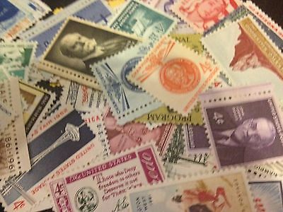 50 MNH OLD All Different 4 cent stamps--SINGLES