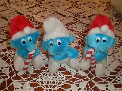 Vintage Wallace Berry Stuffed Animal Lot of 3 Smurf New with tags NOS