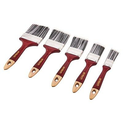 5pc Paint Brush Set Wooden Handle DIY Decorating Painting Painters