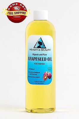 Grapeseed Oil Organic Carrier Cold Pressed 100% Pure 36 Oz