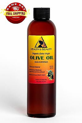 Olive Oil Extra Virgin Organic Unrefined Raw Cold Pressed Premium Pure 8 Oz