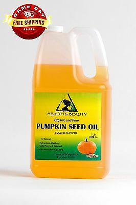 Pumpkin Seed Oil Refined Organic Carrier Cold Pressed 100% Pure 7 Lb