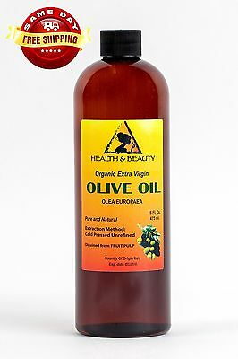 Olive Oil Extra Virgin Organic Unrefined Raw Cold Pressed Premium Pure 16 Oz