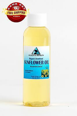 Sunflower Oil Unrefined Organic Carrier Cold Pressed Virgin Raw Pure 2 Oz