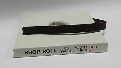 "1"" x 50 YD Aluminum Oxide Emery Cloth Sandpaper Shop Roll – Metals  - 50 Grit"