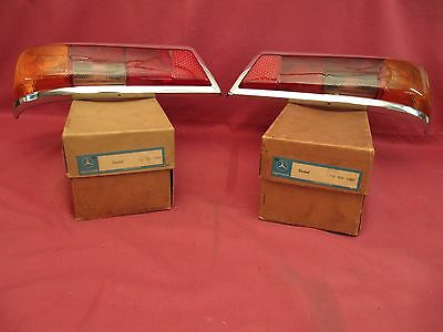 NOS Euro Tail Lamp Lenses Mercedes Benz 110 / 111 Fin Tail OEM