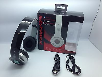 Lot Of 10 New Bluetooth Stereo Headset At-Bt802 Over The Head Universal Black