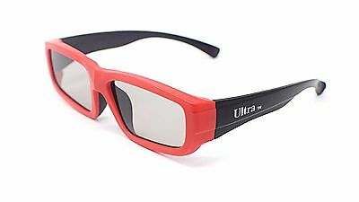 2 x Red Childrens Kids Passive 3D Glasses Universal for LG Sky Toshiba TVs RealD