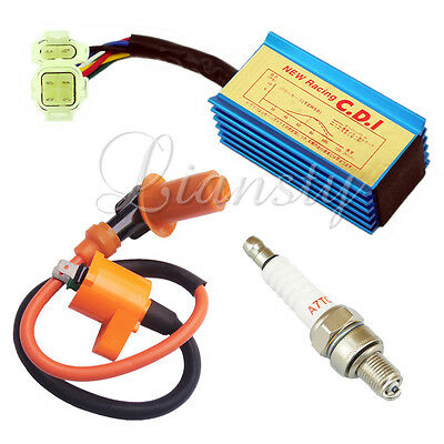 Racing Ignition Coil Spark Plug A7TC CDI GY6 50cc - 150cc Scooter Pit Dirt Bike