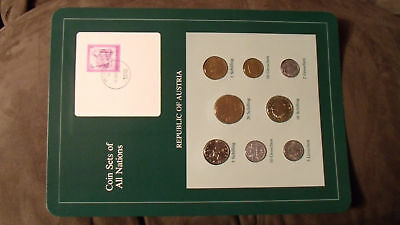 Coin Sets of All Nations Austria all 1982 UNC w/card