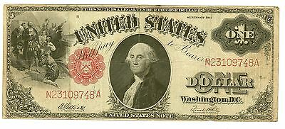 One Dollar United States Note Series 1917,elliot/white,bright,nice Color