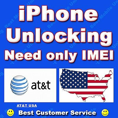 AT&T USA iPhone IMEI official factory unlock for 3GS 4 4S 5 5s 5c 6 6s 6s+ 6+