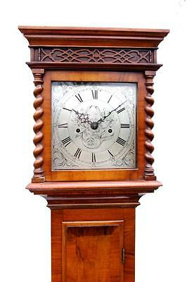 WALNUT LONGCASE GRANDFATHER GRANDMOTHER TALL CASE CLOCK-Small size