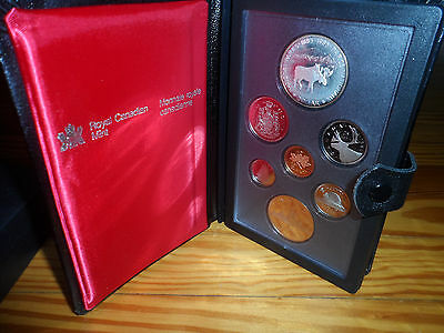 1985 Canada Dollar Caribou Moose Silver Canadian Royal Mint Proof Coin Set
