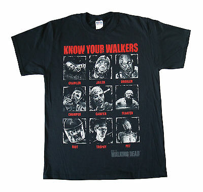 THE WALKING DEAD - Know Your Walkers - T SHIRT S-M-L-XL-2XL Brand New  Official
