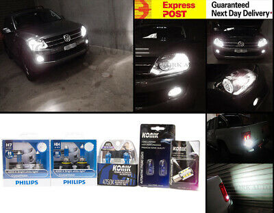White Light Package H15 PHILIPS H7 HB4 Crystal Vision S25 Reverse for VW AMAROK