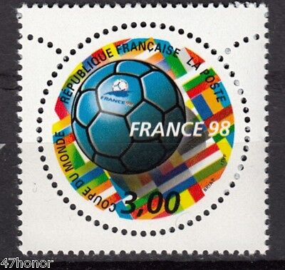 France 1998  * World Football Cup * Commerative Round Stamp MNH
