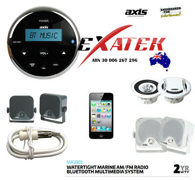 Marine Waterproof Audio Kit MP3/USB/AM/FM/Ipod NEW Latest Boat Stereo Bluetooth