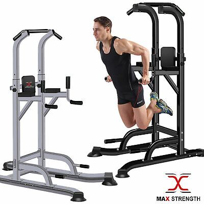 MAXSTRENGTH Pull Up Power Tower Station Abs Knee Crunch Chin Ups Tower Workout