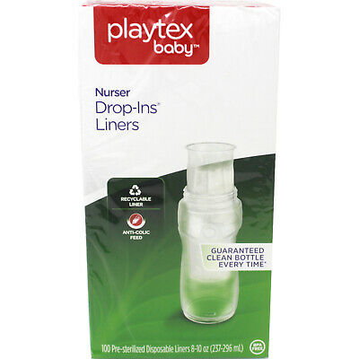 Playtex Drop-Ins Disposable Bottle Liners 8-10 oz