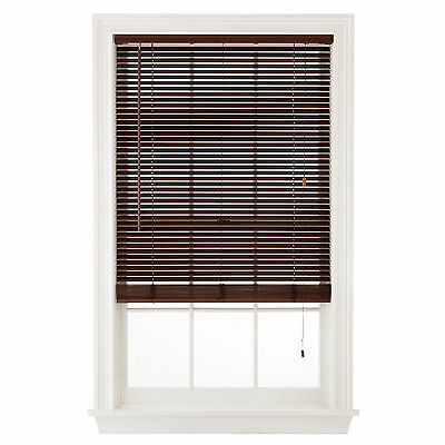 "Wood Window Blinds 1"" Slats - White, Pine, Cherry or Oak Colors"