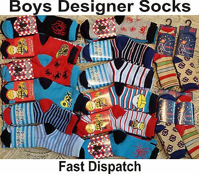 Wholesale Job Lot size 9 to 12 Boys Children Kids Designer Socks Car Boot Trade