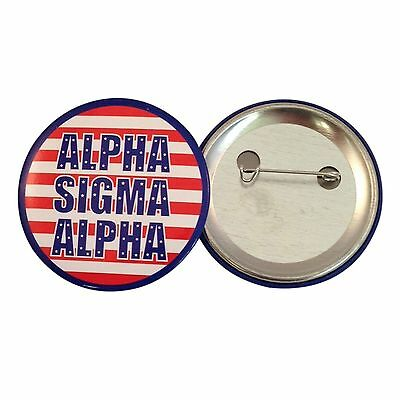 "Alpha Sigma Alpha USA 2"" Button (1 Total)"